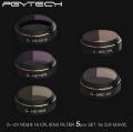PGY 5 SET Filter for DJI Mavic Pro (UV/ND4/ND8/ND16/CPL)